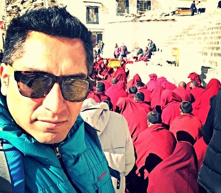 Carlos en su viaje a Tibet