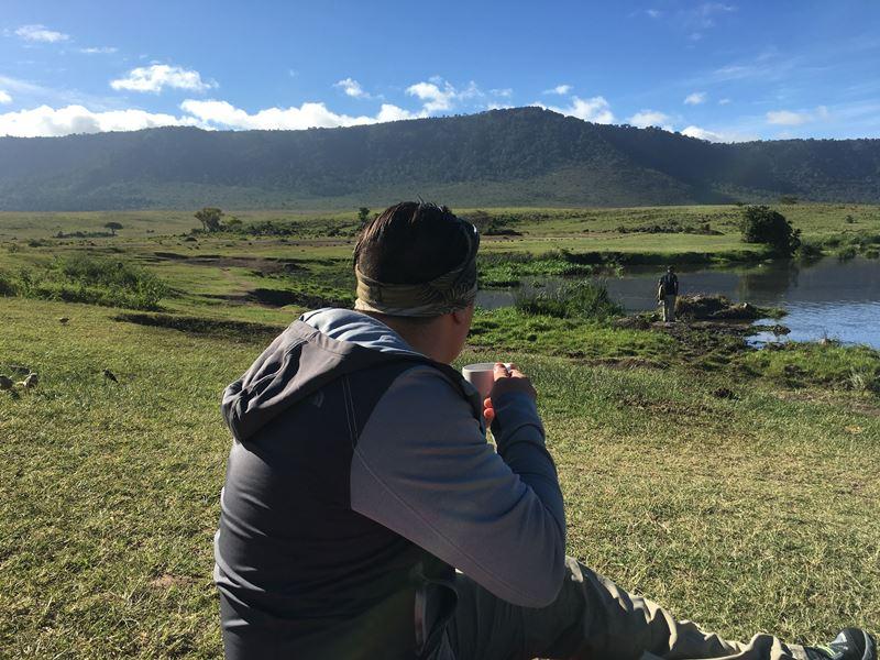 Carlos en Ngorongoro