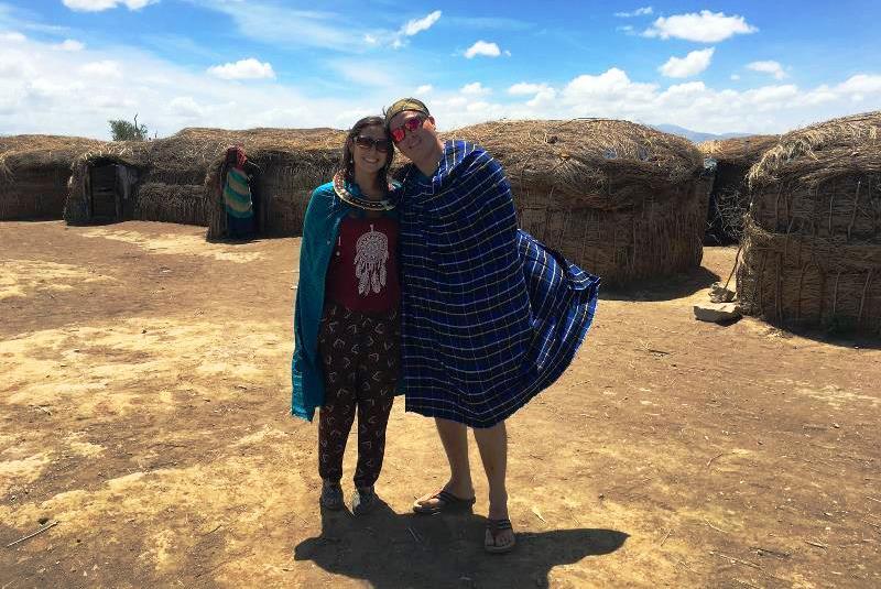 Carlos y Daniela en Viaje a Tanzania