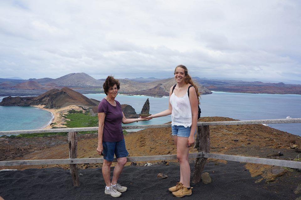 Annelore y Natalie en Galápagos